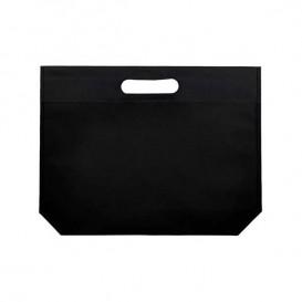 Bolsa Reutilizable Troquelada TNT Negro 34+8x26cm 80g (25 Uds)
