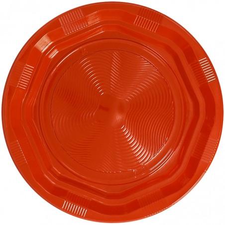 Plato Hondo Reutilizable Económico PS Naranja Ø22cm (25 Uds)