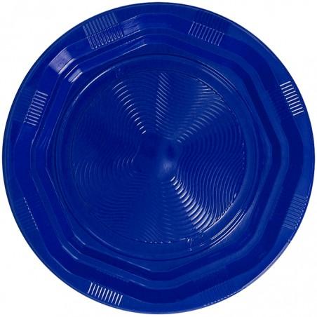 Plato Hondo Reutilizable Económico PS Azul Ø22cm (250 Uds)