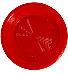 Plato Almidón Maíz PLA Hondo Rojo Ø220 mm (25 Uds)