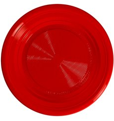Plato Almidón Maíz PLA Hondo Rojo Ø220 mm (375 Uds)