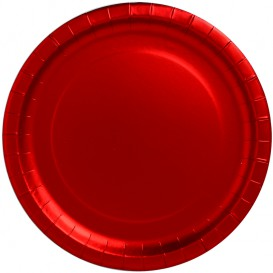 "Plato de Carton Redondo ""Party"" Rojo Ø340mm (3 Uds)"