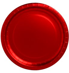 "Plato de Carton Redondo ""Party"" Rojo 330mm (45 Uds)"