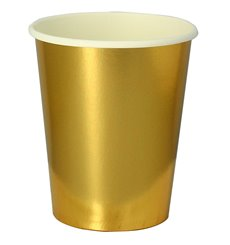 "Vaso Cartón 9 Oz/240ml Oro ""Party"" (10 Uds)"