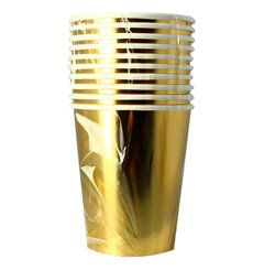 "Vaso Cartón 9 Oz/240ml Oro ""Party"" (300 Uds)"
