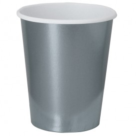"Vaso Cartón 9 Oz/240ml Plata ""Party"" (10 Uds)"