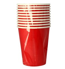 "Vaso Cartón 9 Oz/240ml Rojo ""Party"" (300 Uds)"