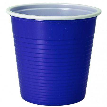 Vaso de Plastico PS Bicolor Azul 230 ml (690 Uds)