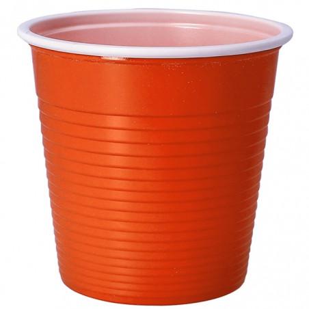 Vaso de Plastico PS Bicolor Naranja 230 ml (690 Uds)