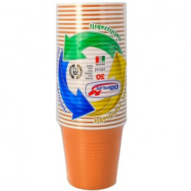 Vaso de Plastico PS Naranja 230 ml (690 Uds)