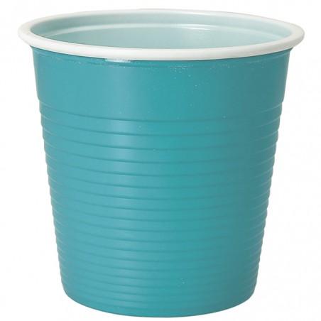 Vaso de Plastico PS Bicolor Azul Claro 230 ml (30 Uds)