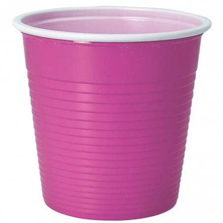 Vaso de Plastico PS Bicolor Rosa 230 ml (30 Uds)