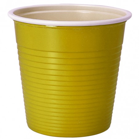 Vaso de Plastico PS Bicolor Amarillo 230 ml (30 Uds)