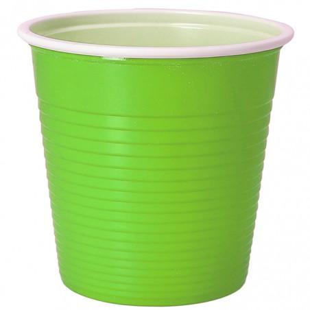 Vaso de Plastico PS Bicolor Verde Lima 230 ml (690 Uds)