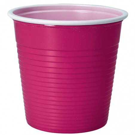 Vaso de Plastico PS Bicolor Fucsia 230 ml (30 Uds)