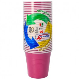 Vaso de Plastico PS Morado 230 ml (30 Uds)