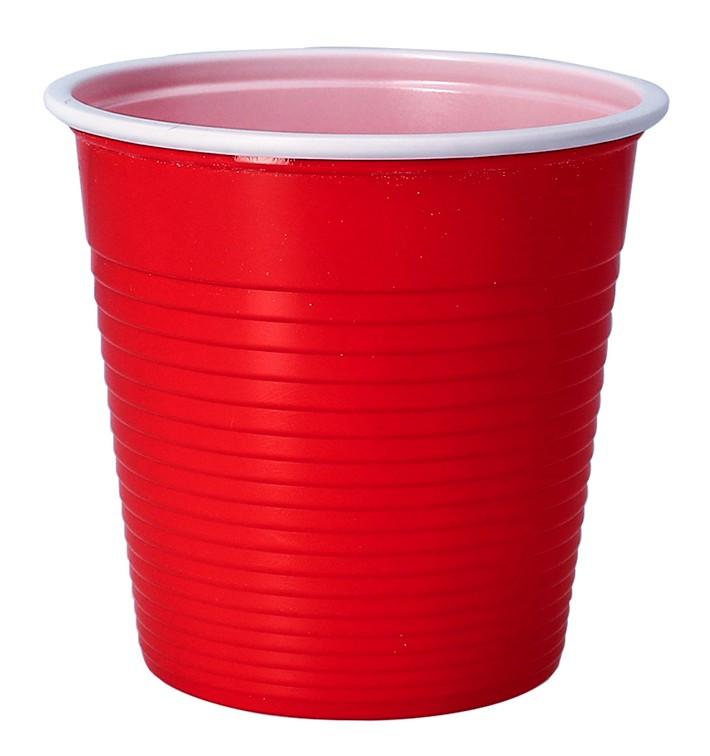 Vaso de Plastico PP Rojo 230 ml (690 Uds)
