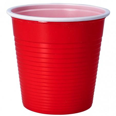 Vaso de Plastico PS Bicolor Rojo 230 ml (690 Uds)
