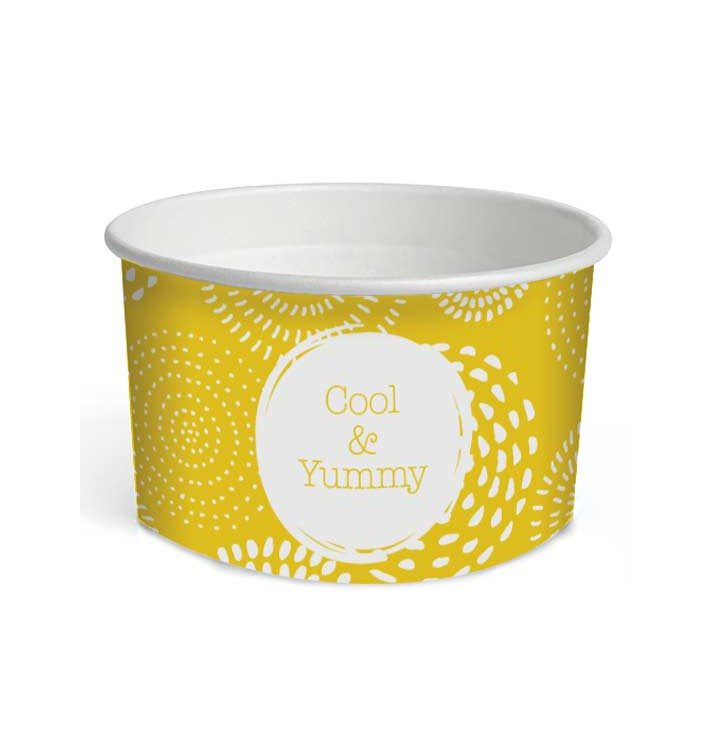 "Tarrina de Cartón para Helados 5oz/140ml ""Cool&Yummy"" (1000 Uds)"