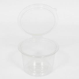 Tarrina Redonda Bisagra APET Transparente 80ml Ø70mm (50 Uds)