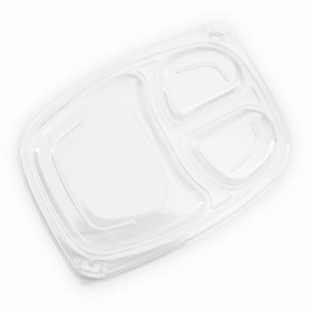 Tapa OPS Transparente Envase 3C 1050/1250ml 255x189x20mm (320 Uds)