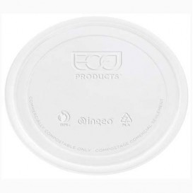 Tapa Tarrina Compostable PLA Transparente 145ml (100 Uds)