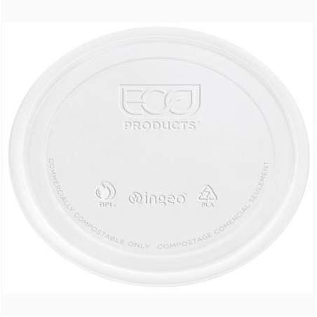 Tapa Tarrina Compostable PLA Transparente 145ml (2000 Uds)