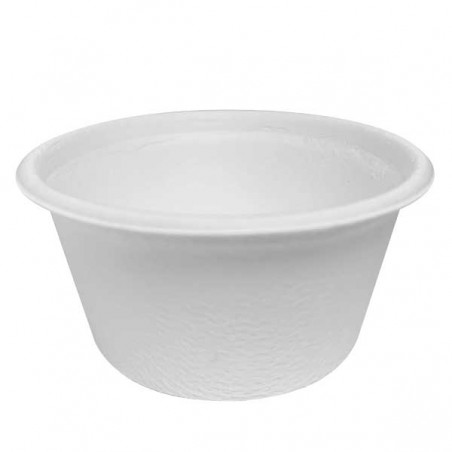 Tarrina de Caña de Azúcar Blanca Ø6,2cm 30ml (3000 Uds)