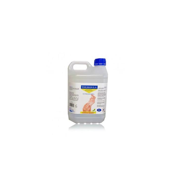 Gel Sanitario Hidroalcohólico Antibacterial 5.000ml (4 Uds)