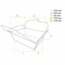 Caja Americana Mediana Kraft 15x12x6,5cm (200 Uds)