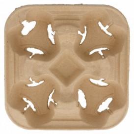 Portavasos de Cartón para 4 cavidades (75 Uds)