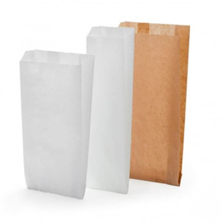 Bolsa de papel Kraft 14+7x24cm (250 Unidades)