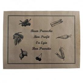 Mantel Individual de papel 30x40cm Rústico 40g (1000 Uds)