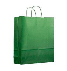 Bolsa Papel Verde con Asas 100g 22+9x23cm (25 Uds)