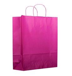 Bolsa Papel Fucsia con Asas 100g 22+9x23 cm (200 Uds)