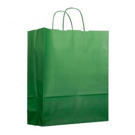 Bolsa Papel Verde con Asas 100g 25+11x31cm (200 Uds)