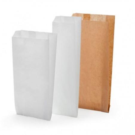Bolsa de papel blanca 22+12x36cm (1000 Unidades)