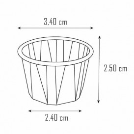 Tarrina de Papel Plisado de 15ml (250 Uds)