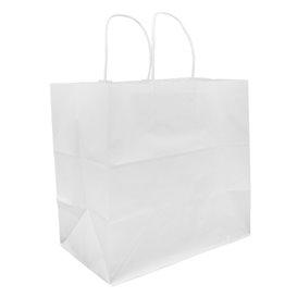 Bolsa Papel Kraft Blanca con Asas 80g 30+18x29cm (25 Uds)