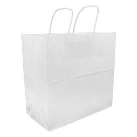 Bolsa Papel Kraft Blanca con Asas 100g 27+14x26cm (200 Uds)