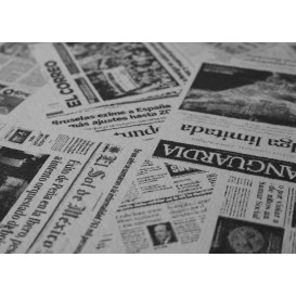 """Mantel de Papel Cortado 1,2x1,2m Blanco """"Prensa"""" 37g (300 Uds)"""