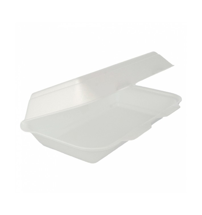 Envase Foam LunchBox Blanco 240x155x70mm (125 Uds)