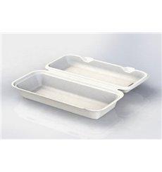 Envase Panini Caña de Azúcar Blanco 290x273x37,5mm (50 Uds)