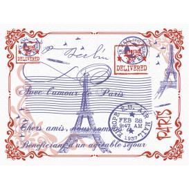 """Mantel Individual Papel 30x40cm """"Paris"""" 40g (1.000 Uds)"""