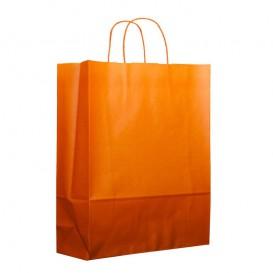 Bolsa Papel Naranja con Asas 100g 25+11x31cm (25 Uds)