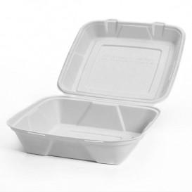 Envase MenuBox Caña Azúcar Blanco 24x23x7,7cm (200 Uds)