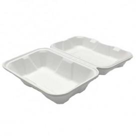 Envase MenuBox Caña Azúcar Blanco 23x15x7,7cm (50 Uds)