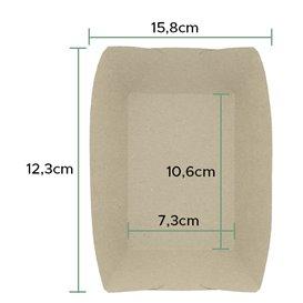 Barqueta 350ml Kraft-Kraft 10,6x7,3x4,5cm (25 Uds)