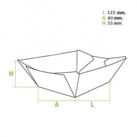 Barqueta 525ml Kraft-Kraft 12,2x8x5,5cm (25 Uds)