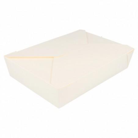 Caja Carton Americana Blanca 19,7x14x4,6cm 1470ml (50 Uds)